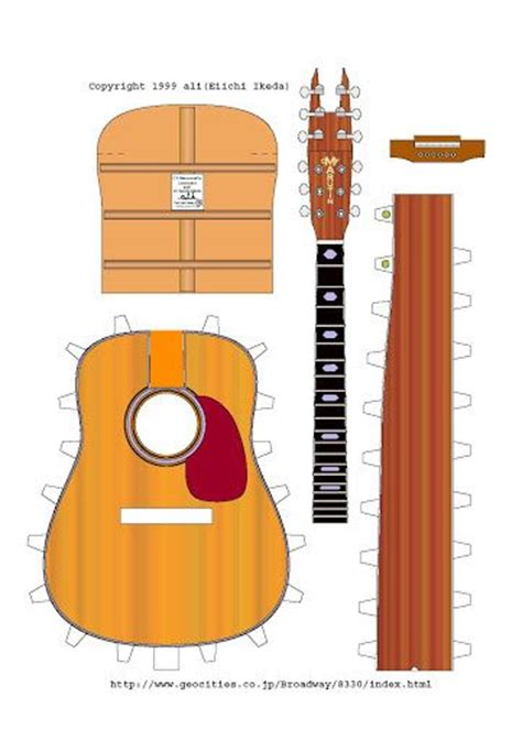 Papercraft Guitar - 232 best images about paper toys on canon
