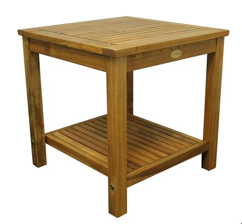 woodworking cl table colourliving side table solid wood acacia wood garden