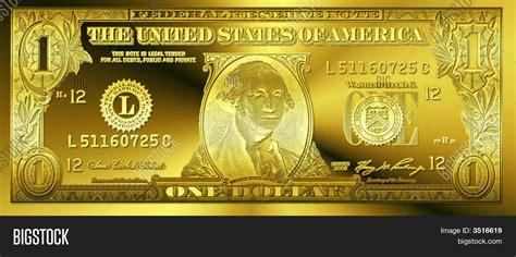 gold dollar golden one dollar bill image photo bigstock