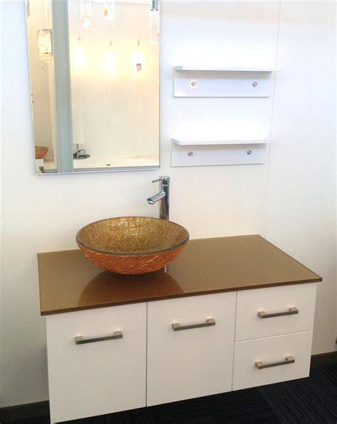 low cost bathroom vanities bathroom vanity unit art glass top gloss cabinet 1000mmw