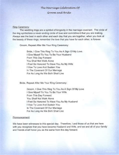 wedding vows script hawaii non religious vows by rev kimo wedding