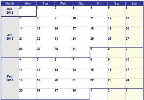 Calendario X Semanas Calendario Por Semanas 2013 Para Imprimir Imagui