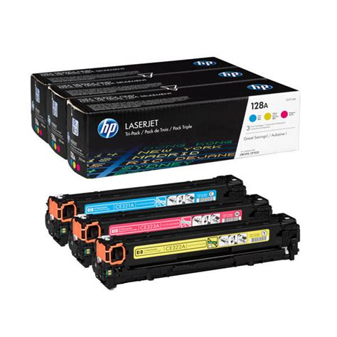 Toner Hp Laserjet 128a Colour Original hp 128a cyan magenta yellow original laserjet toner