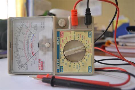 Multitester Analog Heles pengukuran dan pengujian resistor menggunakan multimeter