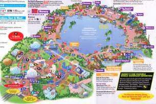 disney florida park maps epcot at walt disney world 2011 park map