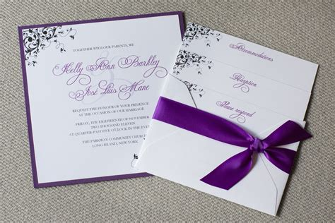 square wedding invitations purple wedding invitations