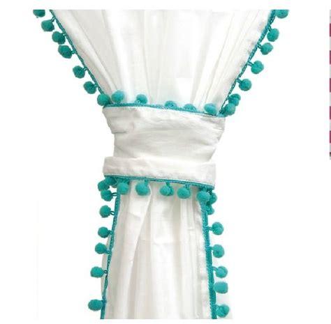 white pom pom curtains white curtains with pom poms baby s nursery pinterest