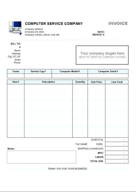computer shop receipt template computer repair receipt template mindofamillennial me