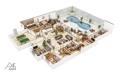 floor plan in 3d 3d architectural floor plans rendering portfolio 3d