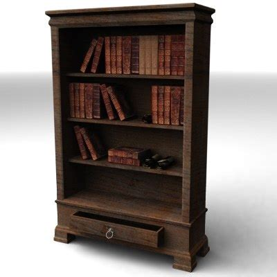 bookshelf books shelf 3d model