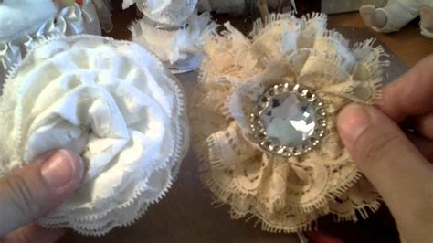 how to make shabby chic flowers out of fabric shabby chic lace flower tutorial