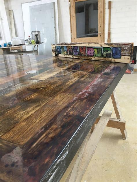 Epoxidharz Tisch Polieren by Tisch Mit Gie 223 Harzeinbettung Ross Fisch Composites