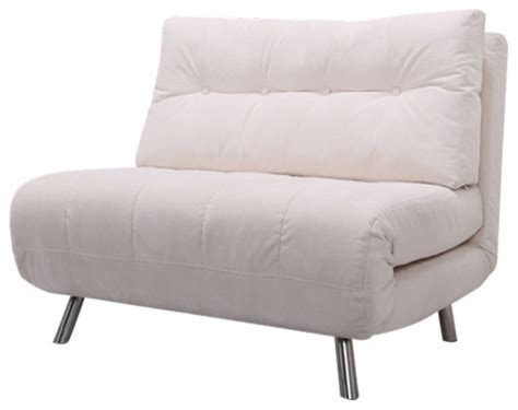 ta convertible big chair bed ivory contemporary