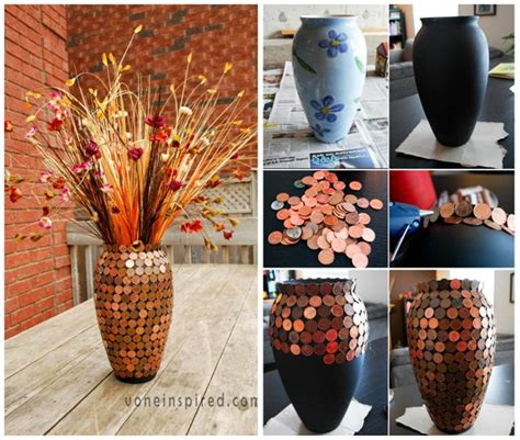 simple creative ideas for home decor creative ideas diy gorgeous lucky penny vase
