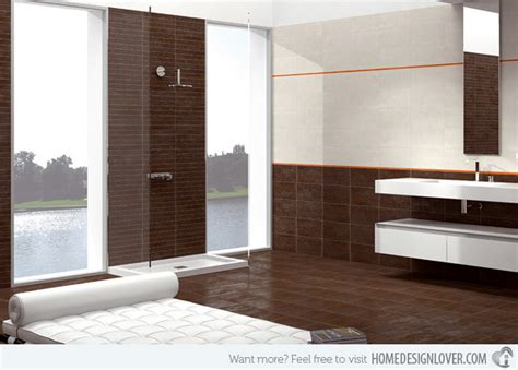elegant bathroom with brown furnishings stands out this white and contemporary toronto interior
