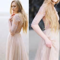 need help finding blush or non white long sleeved wedding dress pics included weddingbee