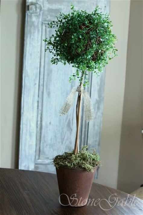 diy topiaries stonegable rustic summer topiary diy