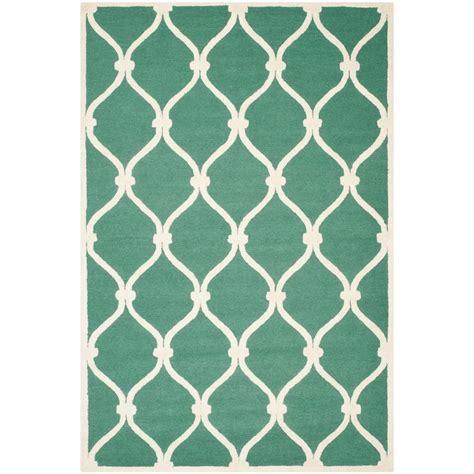 teal area rug 5 x 8 safavieh cambridge teal ivory 5 ft x 8 ft area rug