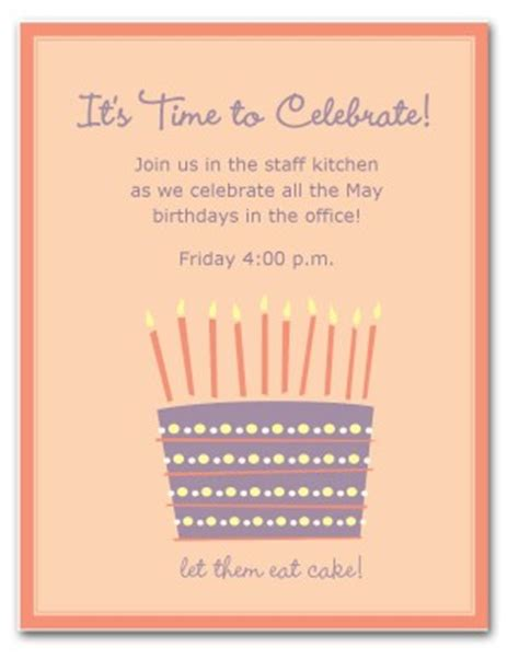 work invitation template printable work birthday invitation template