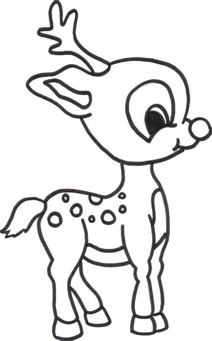 Baby Rudolph Coloring Pages | christmas colouring pages free to print and colour