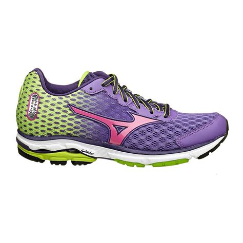 mizuno wave rider womens running shoes mizuno wave rider 18 womens running shoes green purple
