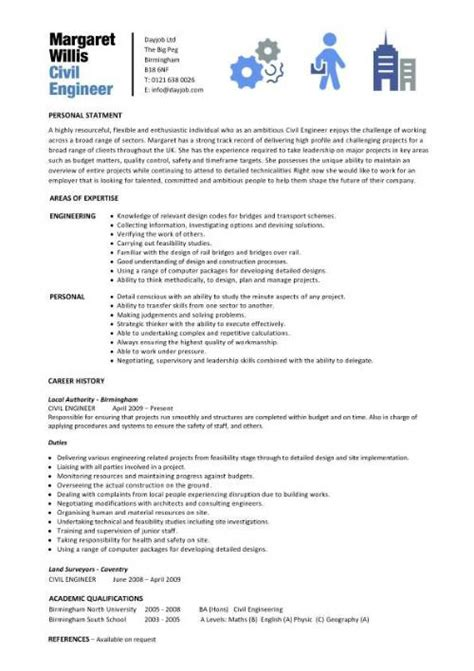 cv template civil engineer civil engineer resume template
