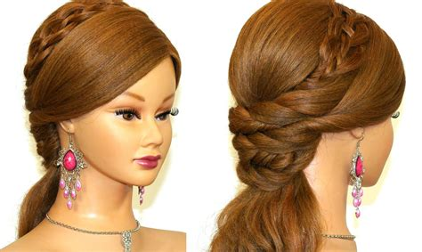 evening hairstyles to do at home easy prom hairstyles for long hair to do at home women