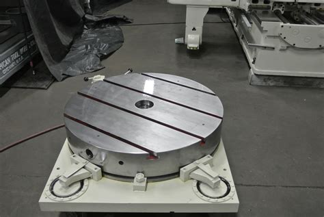 table consultants giddings lewis 36 air lift rotary index table 9800