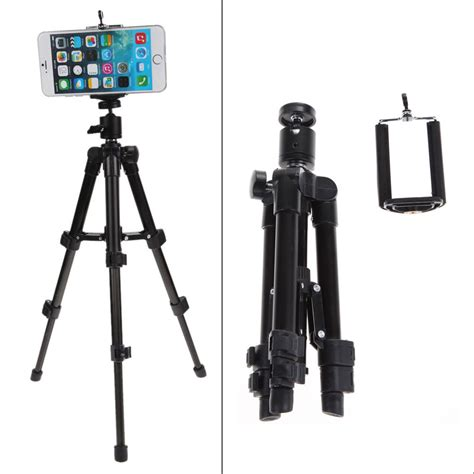 iphone tripod aluminum alloy tripod stand holder for iphone 5s 6 6s plus smart phone ebay