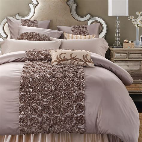 King Size Bedding Set 6 Sunnyrain 4 6 Pieces Handwork Shaped Luxury Wedding Bedding Set King Size Solid Color