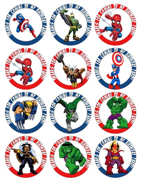 printable heroes 8 best images of free printable superhero cupcake toppers