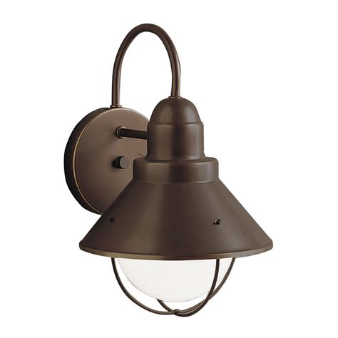 Kichler Outdoor Lights Shop Kichler Seaside 12 In H Olde Bronze Sky Outdoor Wall Light At Lowes