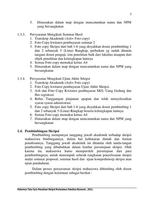 Sul Lamaran Kerja by Contoh Skripsi Lengkap Dengan Tips Penulisan Yang Benar