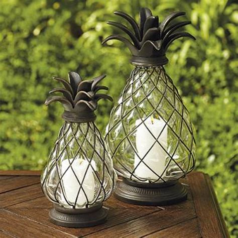 Ideas For Pineapple Outdoor Lights Design Light Up The With Frontgate S Pineapple Lanterns