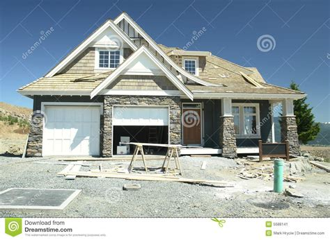 new siding for house new home house siding builder stock image image 5588141