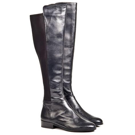 michael kors black bromley s flat knee boot
