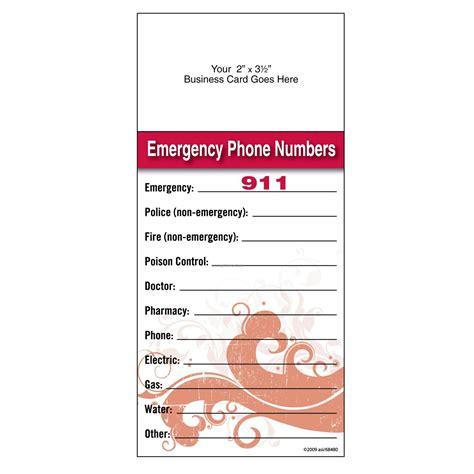 school emergency card template printable emergency card images