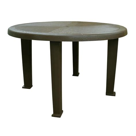 48 dining bench shop adams mfg corp 48 in w x 48 in l round resin dining table at lowes com