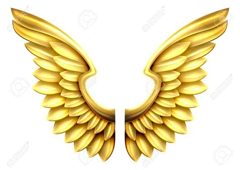 wings clip golden clipart wing pencil and in color golden clipart wing
