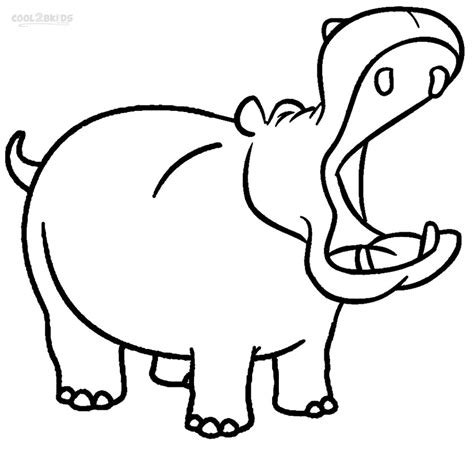 free coloring pages hippo printable hippo coloring pages for kids cool2bkids