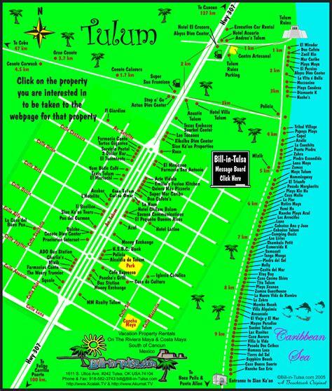 tulum mexico map map of tulum bill in tulsa