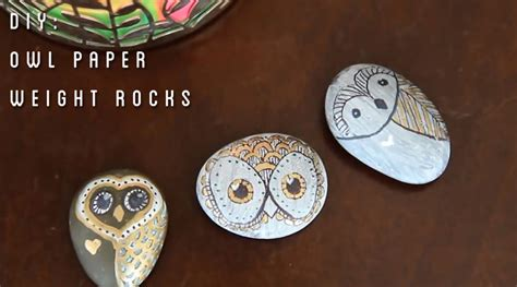 How To Make A Paper Weight - owl paper weight rocks diy tiffyquake