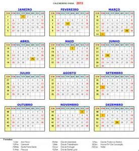 Angola Calendario 2018 Calend 193 2013 Feriados Dicas Na Web