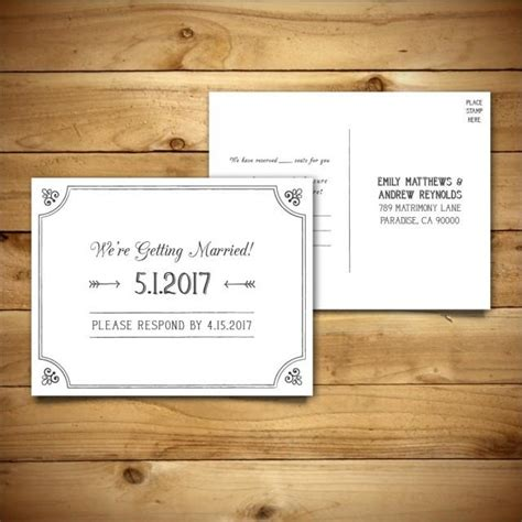 rsvp cards templates microsoft printable wedding postcard rsvp response card template