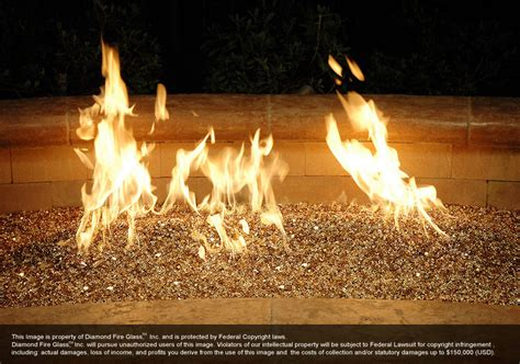 outdoor fireplace glass rocks glass