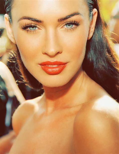 megan foxs makeup how to get her skin bold lip exact look megan fox omg beautiful and her eyes beauty