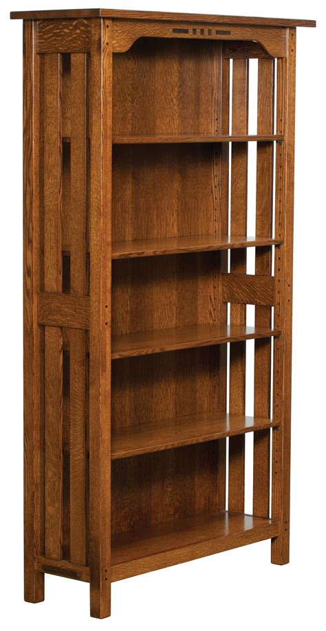 Amish Handcrafted Furniture - boulder creek bookshelf amish custom furniture