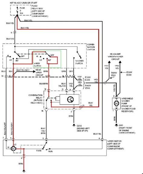 mercedes windshield wiper motor wiring diagram new