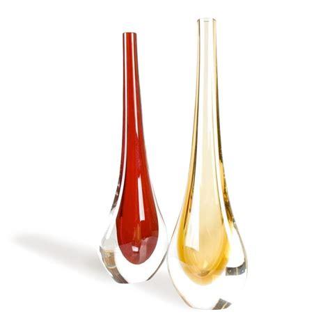 vasi in vetro di murano stilla 2 pz vasi colorati arredo in vetro di murano