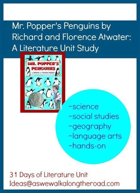 themes for language arts units literature unit for mr popper s penguins includes science